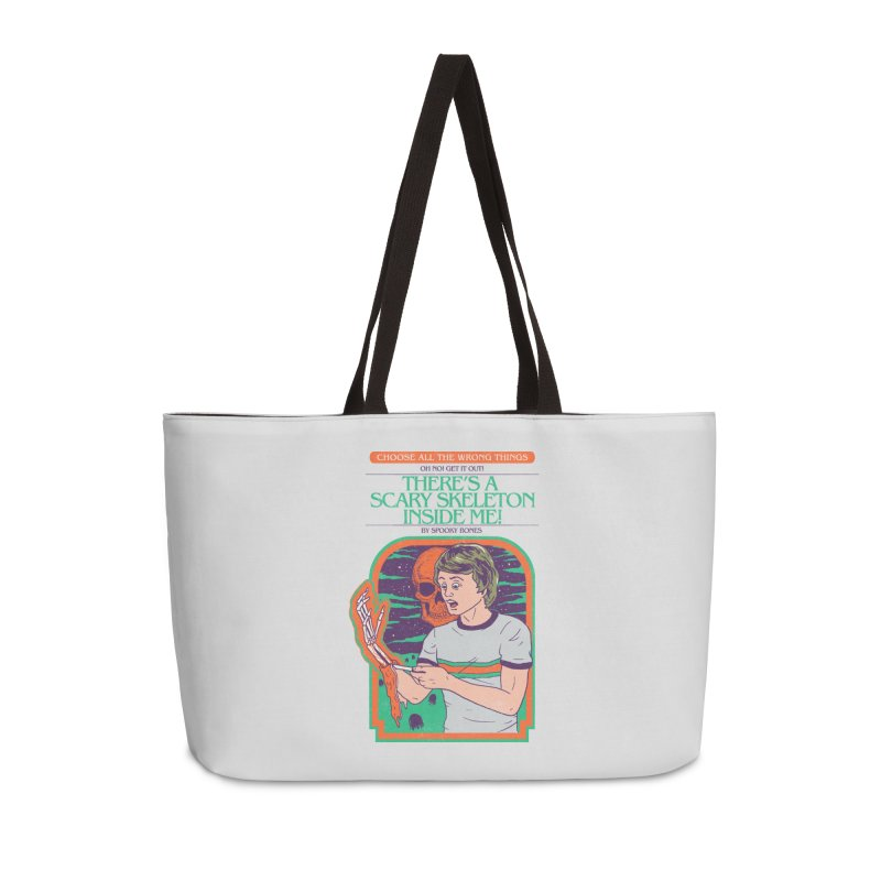 Scary Skeleton Accessories Weekender Bag Bag by Hillary White