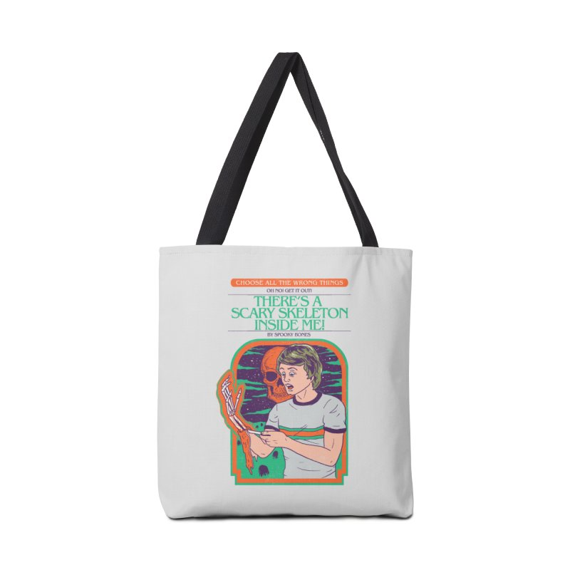 Scary Skeleton Accessories Tote Bag Bag by Hillary White