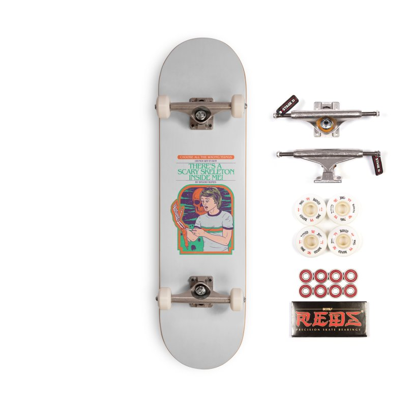Scary Skeleton Accessories Complete - Pro Skateboard by Hillary White