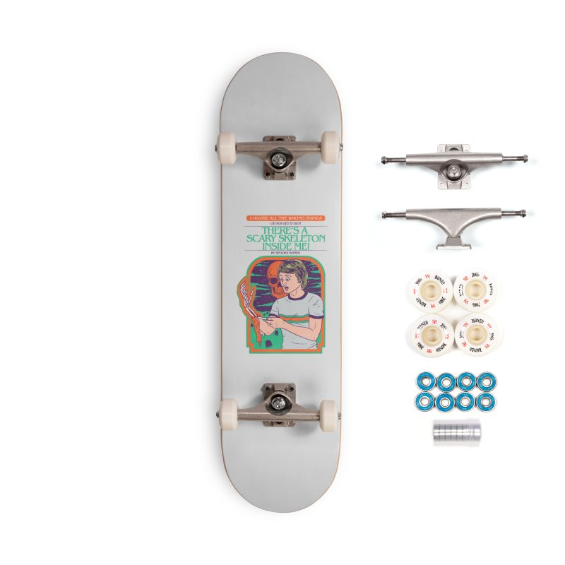 Scary Skeleton Accessories Complete - Premium Skateboard by Hillary White