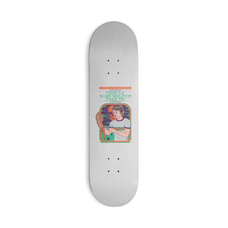 Scary Skeleton Accessories Deck Only Skateboard by Hillary White