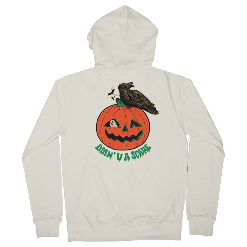 Doin' U A Scare Men's French Terry Zip-Up Hoody by Hillary White