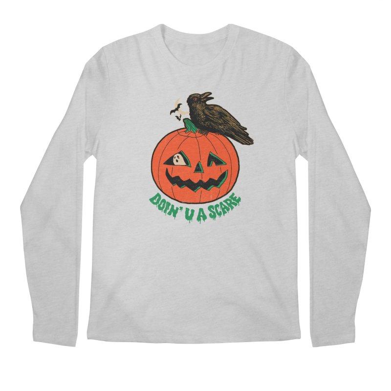 Doin' U A Scare Men's Regular Longsleeve T-Shirt by Hillary White