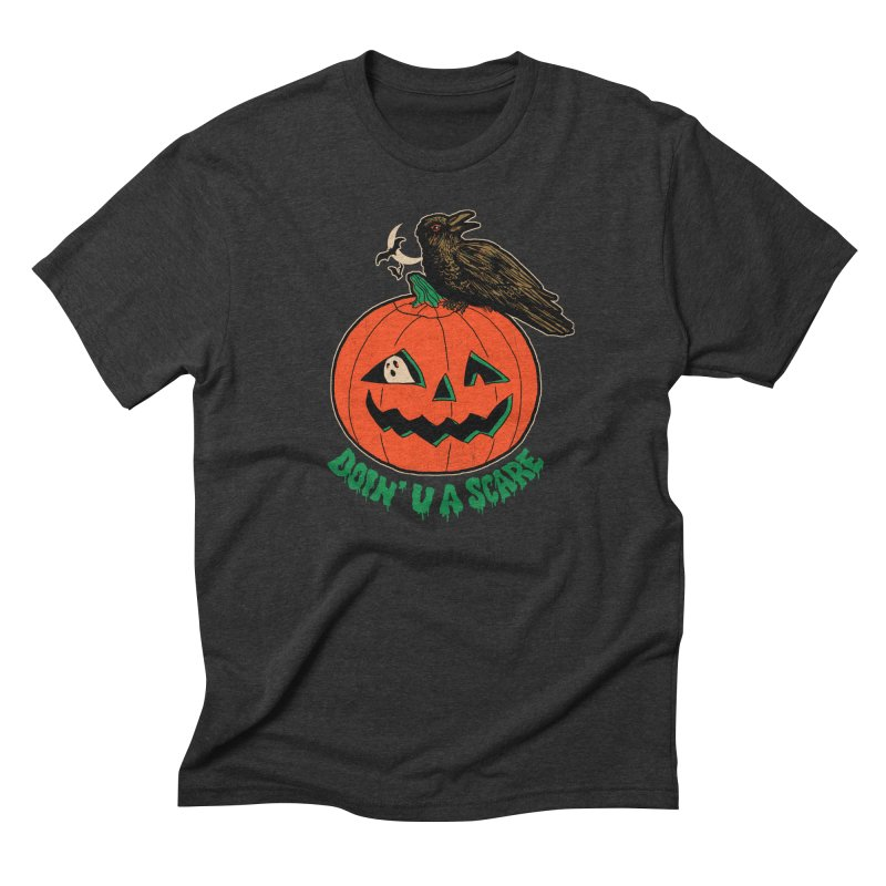 Doin' U A Scare Men's Triblend T-Shirt by Hillary White