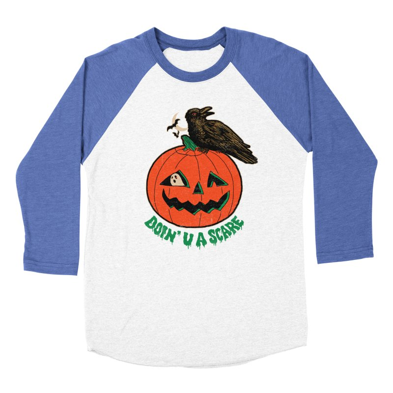 Doin' U A Scare Men's Baseball Triblend Longsleeve T-Shirt by Hillary White
