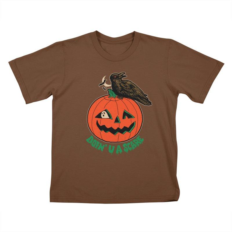 Doin' U A Scare Kids T-Shirt by Hillary White