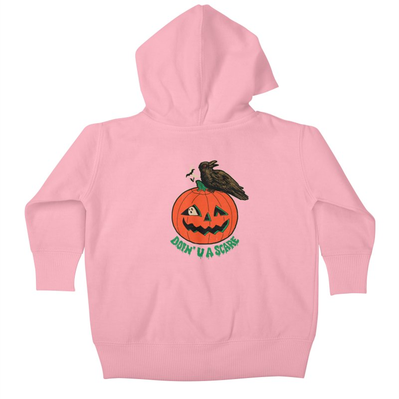 Doin' U A Scare Kids Baby Zip-Up Hoody by Hillary White