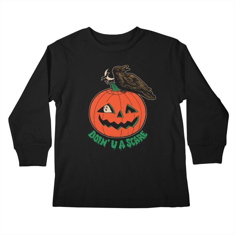 Doin' U A Scare Kids Longsleeve T-Shirt by Hillary White