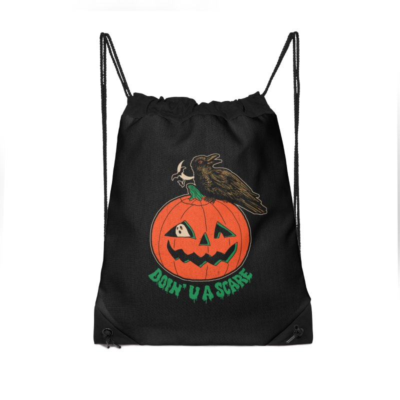 Doin' U A Scare Accessories Drawstring Bag Bag by Hillary White