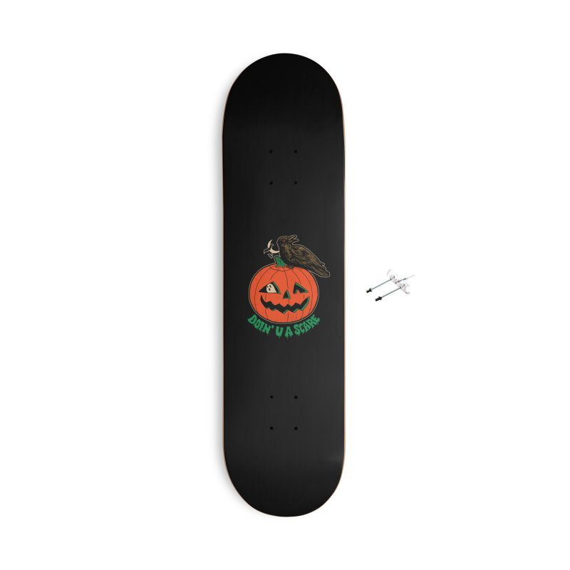 Doin' U A Scare Accessories With Hanging Hardware Skateboard by Hillary White