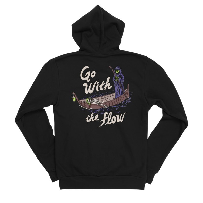 Go With The Flow Women's Sponge Fleece Zip-Up Hoody by Hillary White