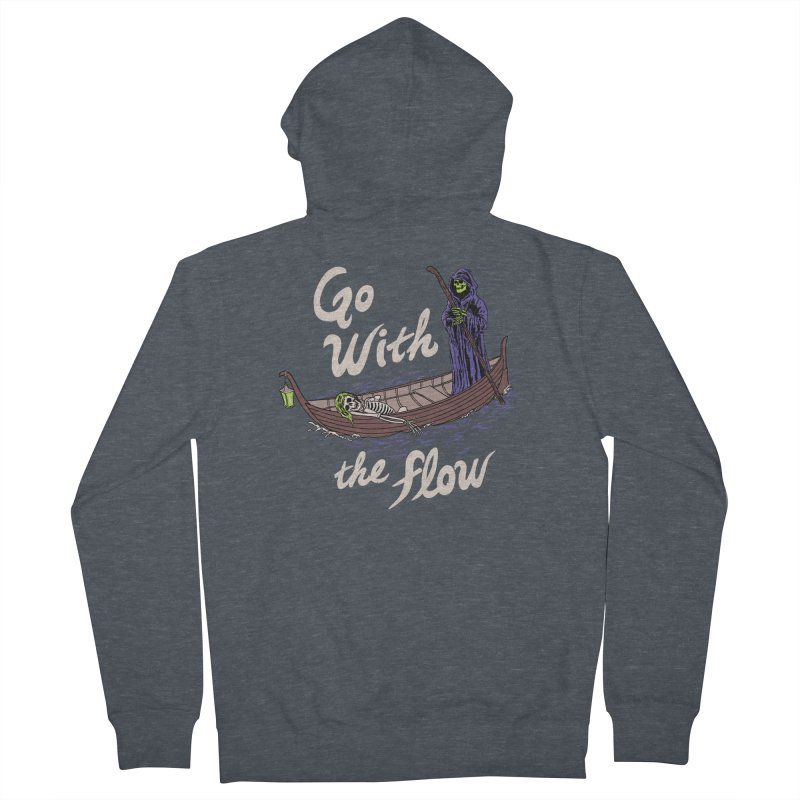 Go With The Flow Men's French Terry Zip-Up Hoody by Hillary White