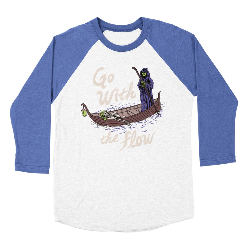 Go With The Flow Women's Baseball Triblend Longsleeve T-Shirt by Hillary White