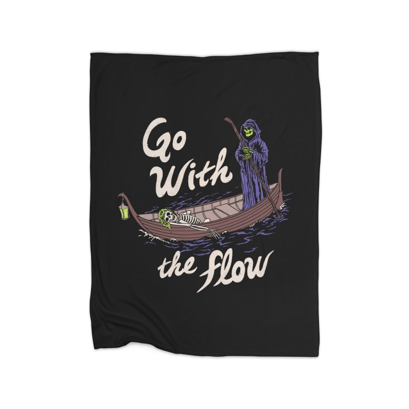 Go With The Flow Home Fleece Blanket Blanket by Hillary White