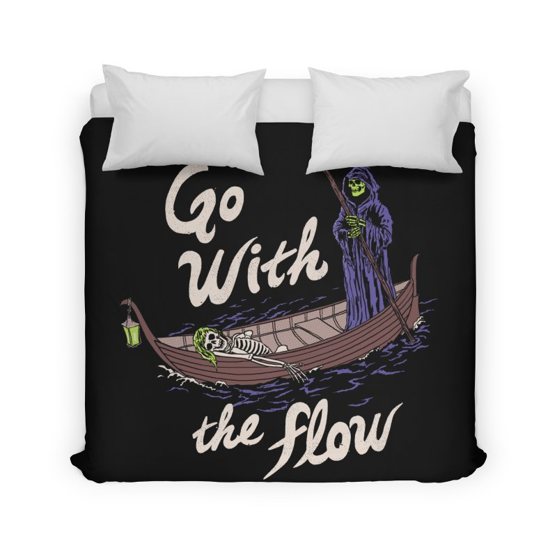 Go With The Flow Home Duvet by Hillary White