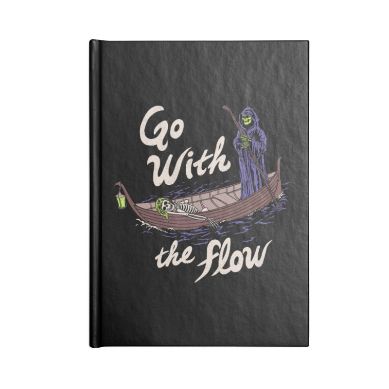 Go With The Flow Accessories Blank Journal Notebook by Hillary White