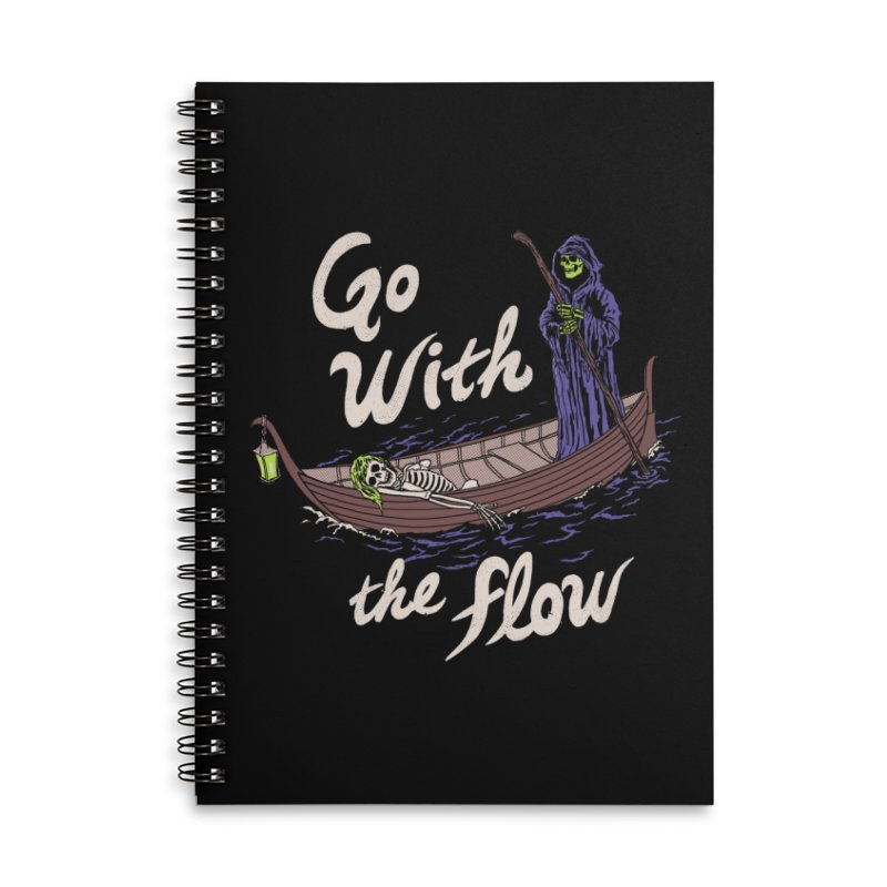 Go With The Flow Accessories Lined Spiral Notebook by Hillary White