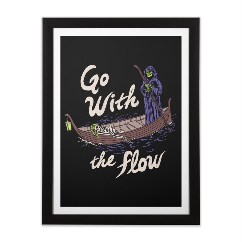 Go With The Flow Home Framed Fine Art Print by Hillary White