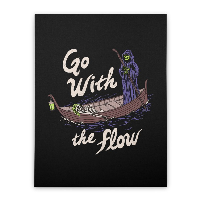Go With The Flow Home Stretched Canvas by Hillary White