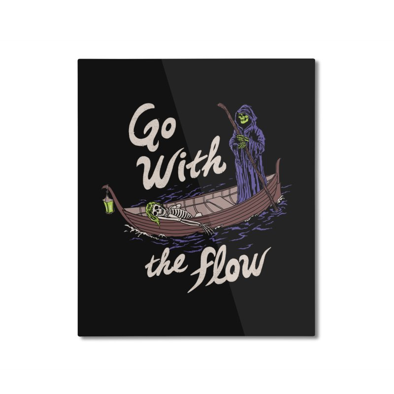 Go With The Flow Home Mounted Aluminum Print by Hillary White