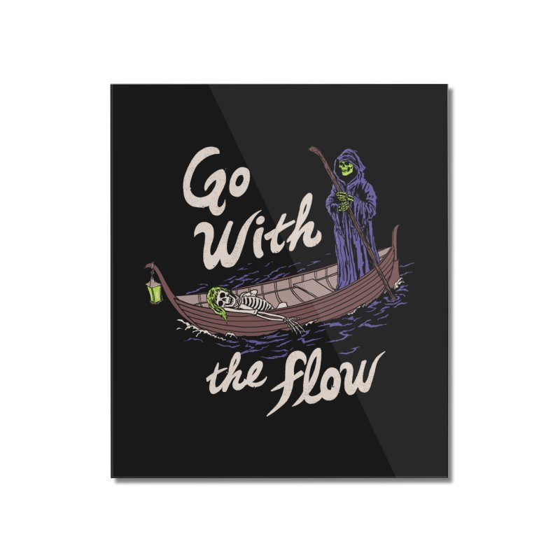Go With The Flow Home Mounted Acrylic Print by Hillary White