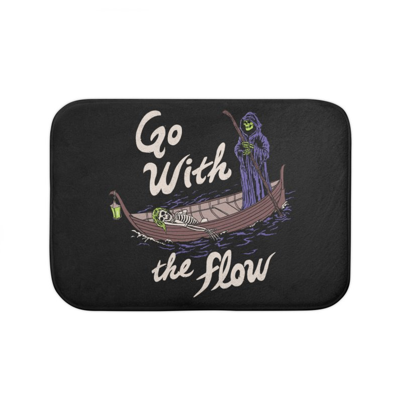 Go With The Flow Home Bath Mat by Hillary White