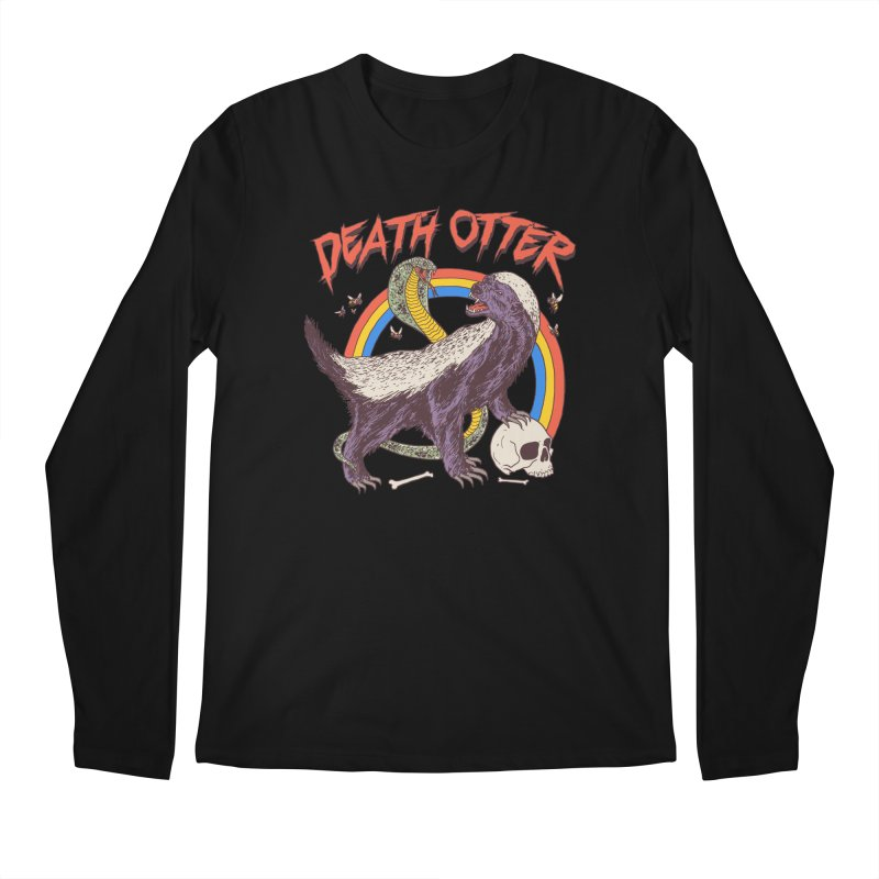 Death Otter Men's Regular Longsleeve T-Shirt by Hillary White
