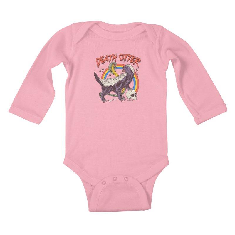 Death Otter Kids Baby Longsleeve Bodysuit by Hillary White