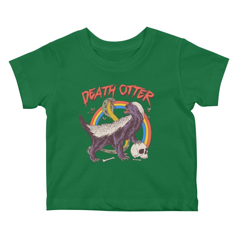 Death Otter Kids Baby T-Shirt by Hillary White