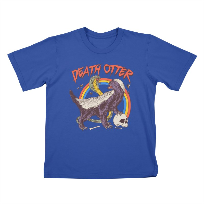 Death Otter Kids T-Shirt by Hillary White