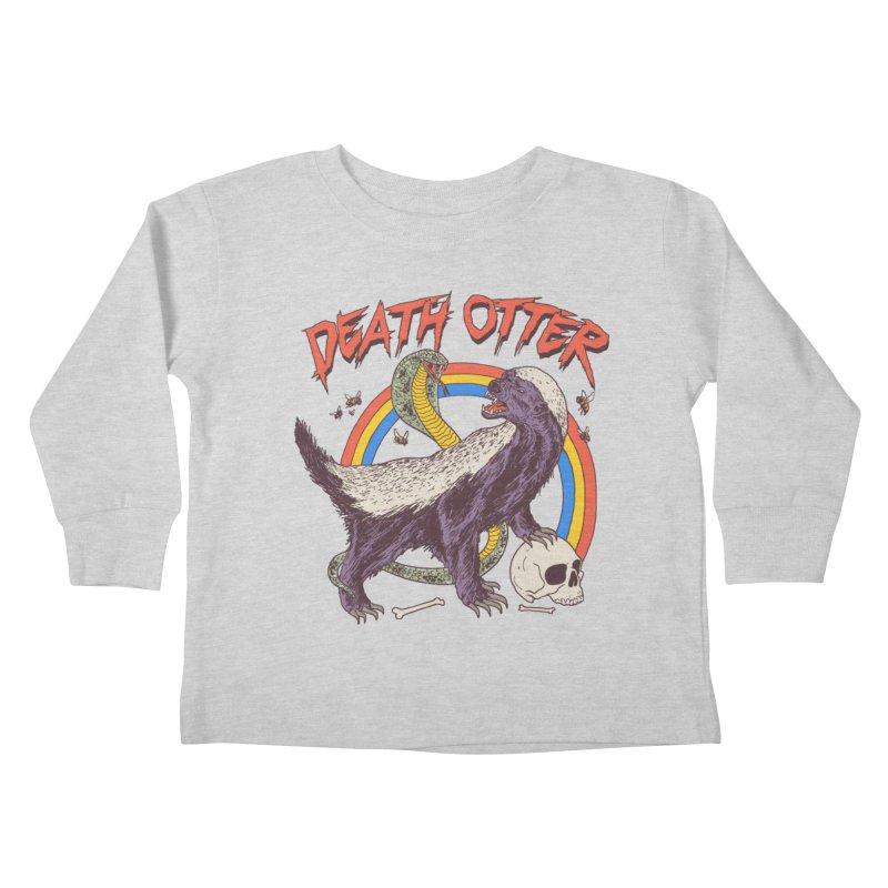 Death Otter Kids Toddler Longsleeve T-Shirt by Hillary White