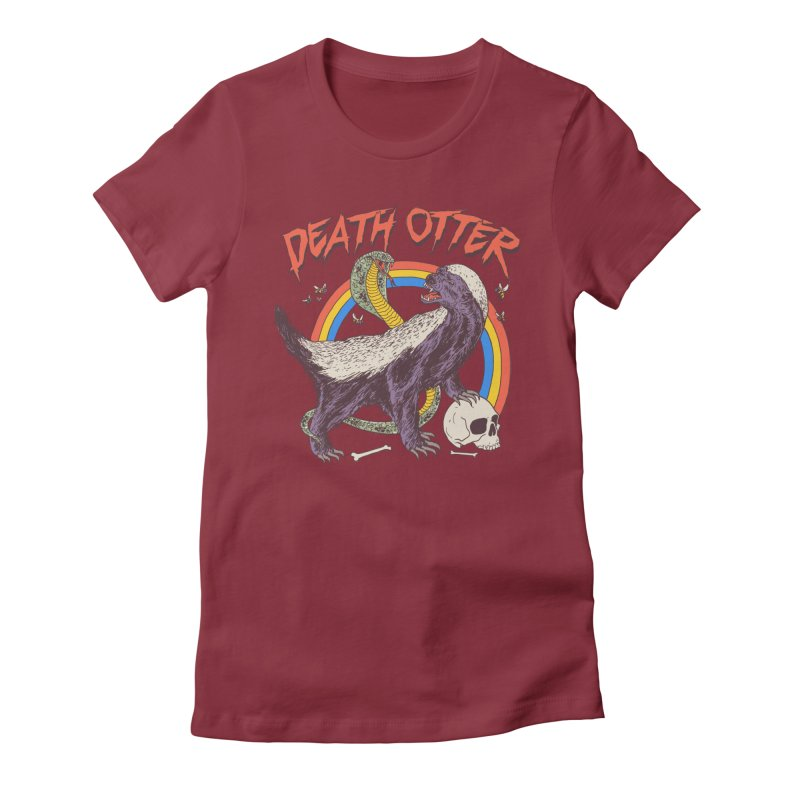 Death Otter Women's Fitted T-Shirt by Hillary White