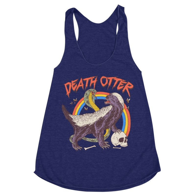 Death Otter Women's Racerback Triblend Tank by Hillary White