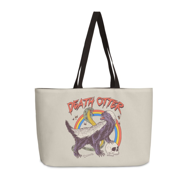 Death Otter Accessories Weekender Bag Bag by Hillary White