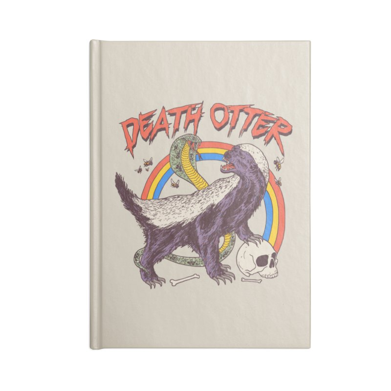 Death Otter Accessories Lined Journal Notebook by Hillary White