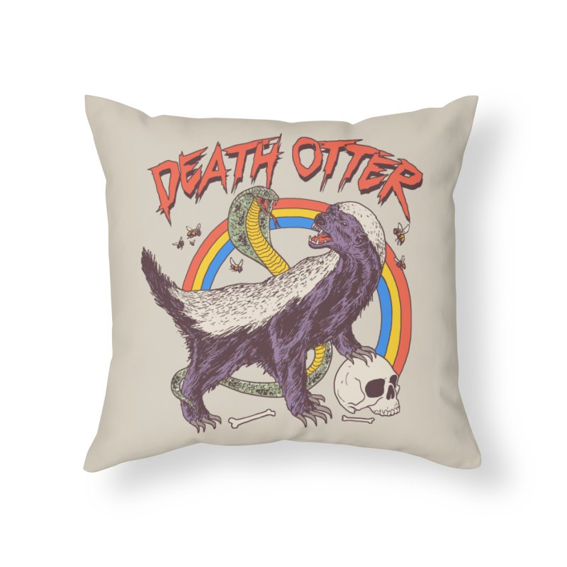Death Otter Home Throw Pillow by Hillary White