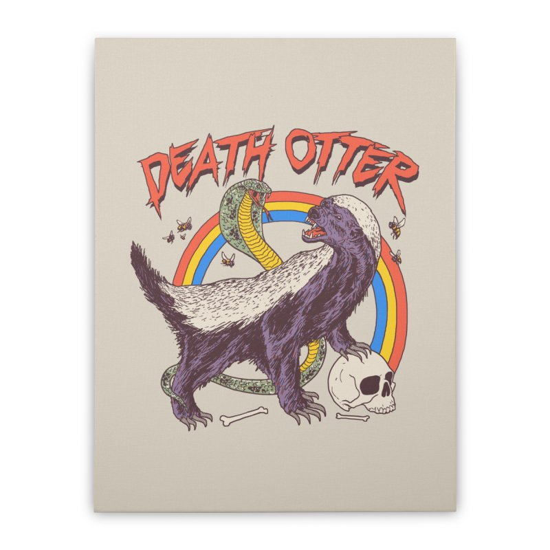 Death Otter Home Stretched Canvas by Hillary White