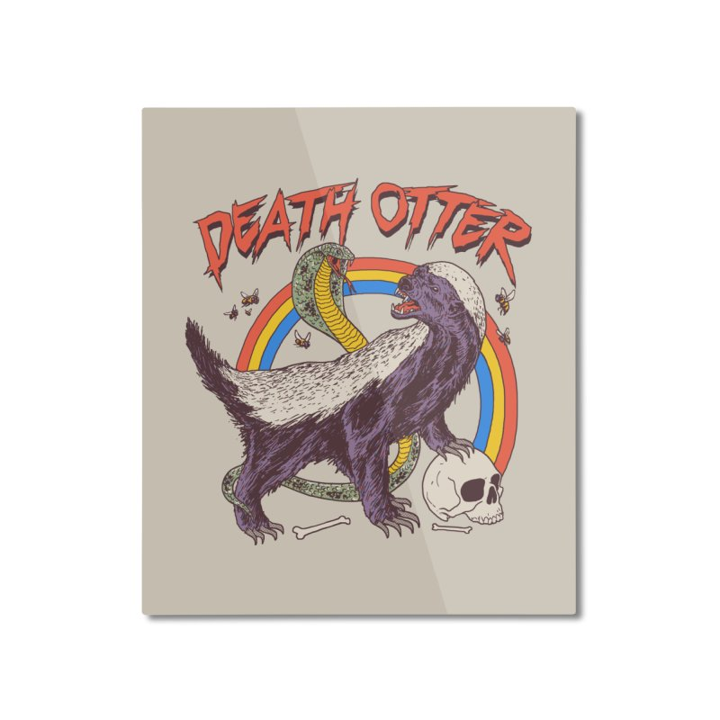 Death Otter Home Mounted Aluminum Print by Hillary White