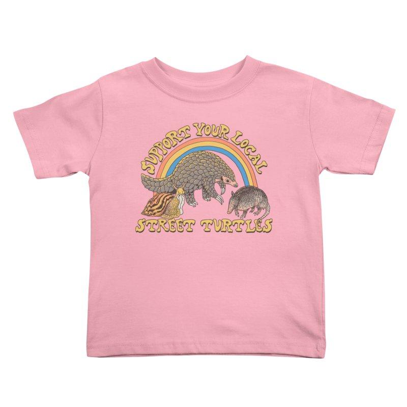 Street Turtles Kids Toddler T-Shirt by Hillary White