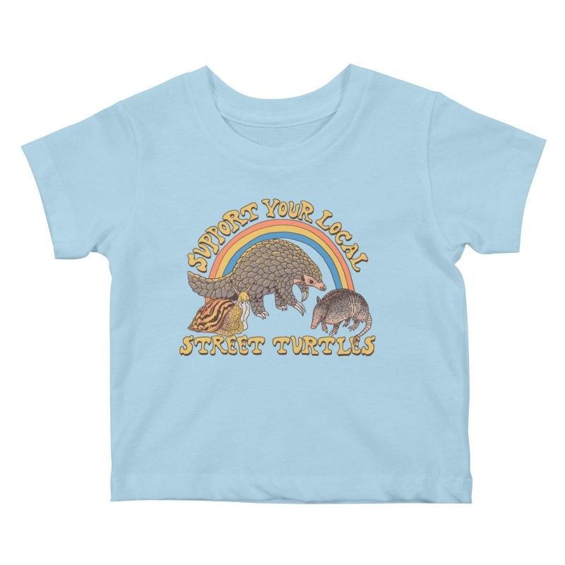 Street Turtles Kids Baby T-Shirt by Hillary White