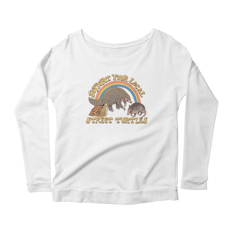 Street Turtles Women's Scoop Neck Longsleeve T-Shirt by Hillary White