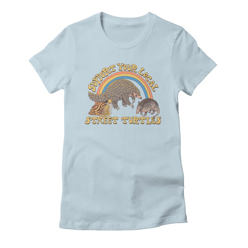 Street Turtles Women's Fitted T-Shirt by Hillary White
