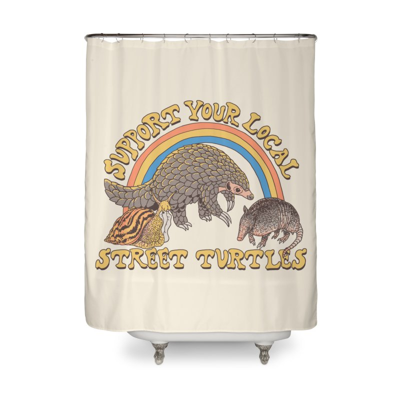 Street Turtles Home Shower Curtain by Hillary White