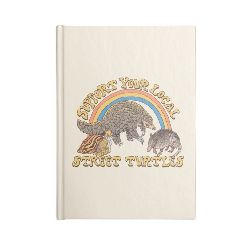 Street Turtles Accessories Lined Journal Notebook by Hillary White