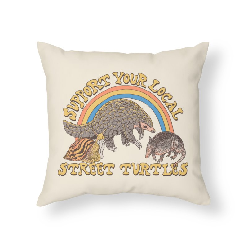 Street Turtles Home Throw Pillow by Hillary White