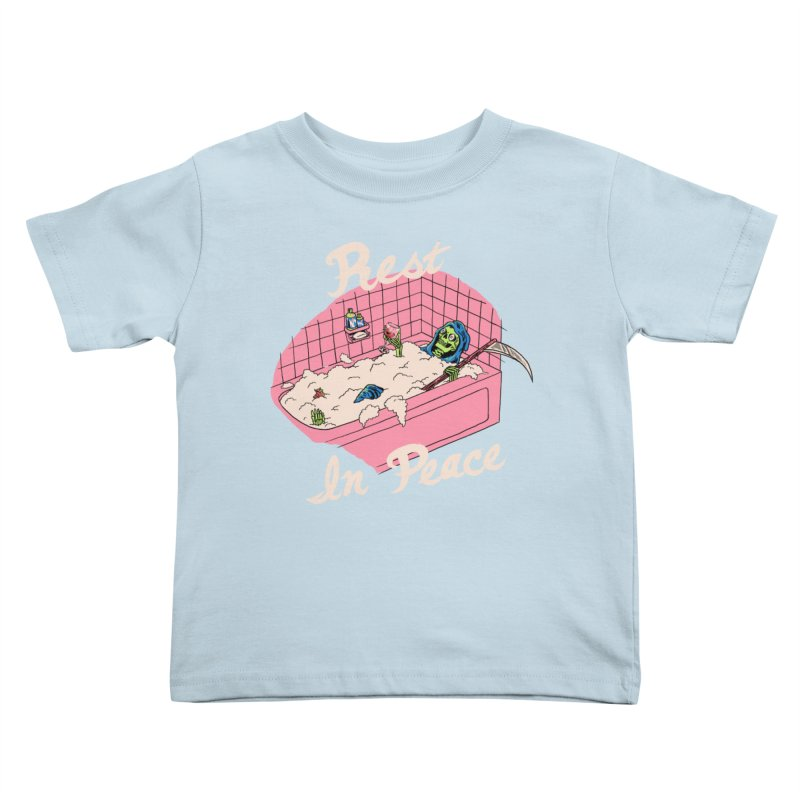 Rest In Peace Kids Toddler T-Shirt by Hillary White