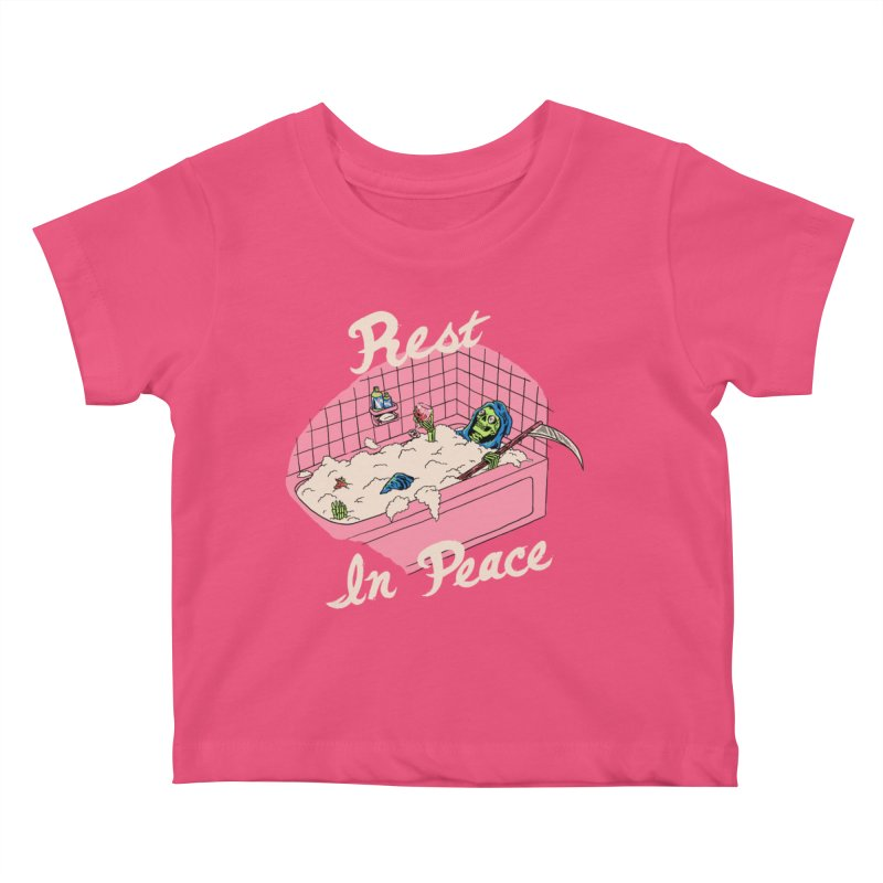 Rest In Peace Kids Baby T-Shirt by Hillary White