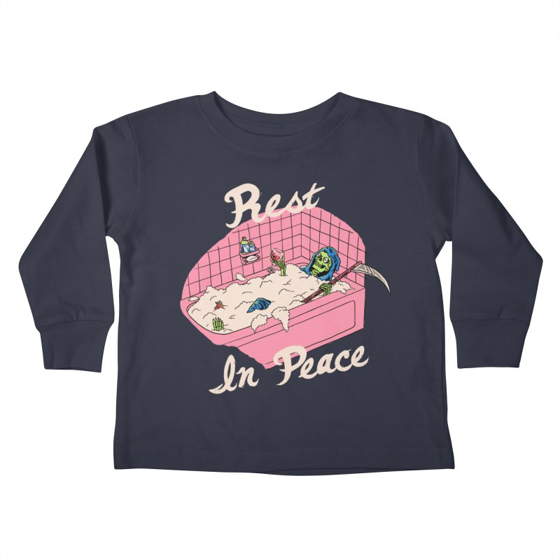 Rest In Peace Kids Toddler Longsleeve T-Shirt by Hillary White