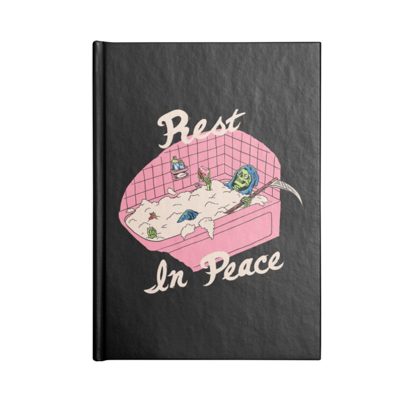 Rest In Peace Accessories Lined Journal Notebook by Hillary White