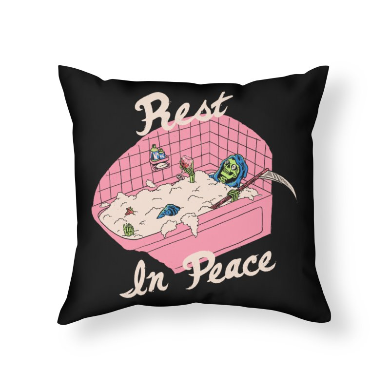 Rest In Peace Home Throw Pillow by Hillary White